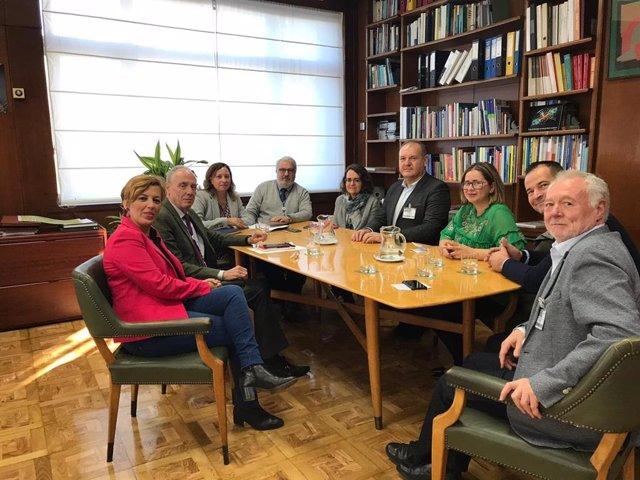 Reunión de representantes del CIEMAT con autoridades de Cuevas del Almanzora en 2018