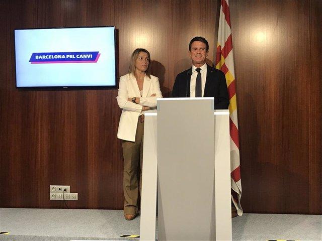 Eva Parera y Manuel Valls, Bcn Canvi (archivo)