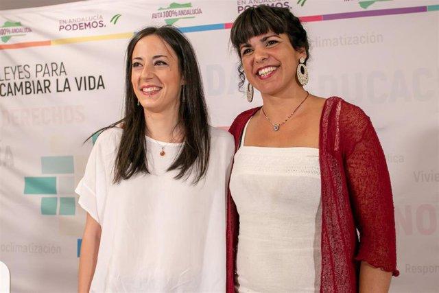 Isabel Franco y Teresa Rodríguez, en una foto de archivo