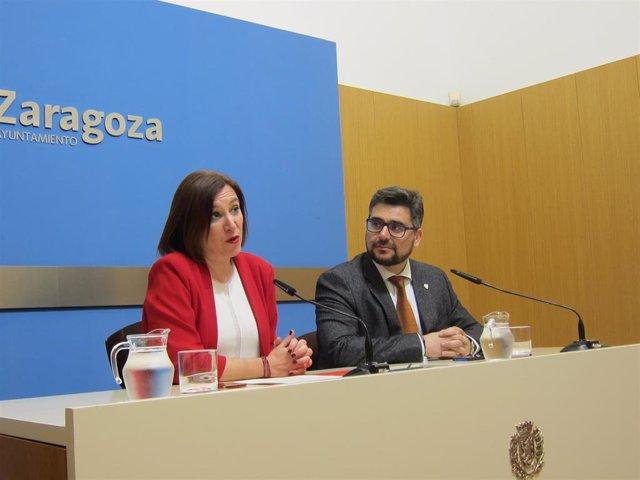 La vicealcaldesa y consejera municipal de Cultura y Proyección Exterior, Sara Fernández, y el presidente del Patronato Municipal de Turismo, Conrado Molina.