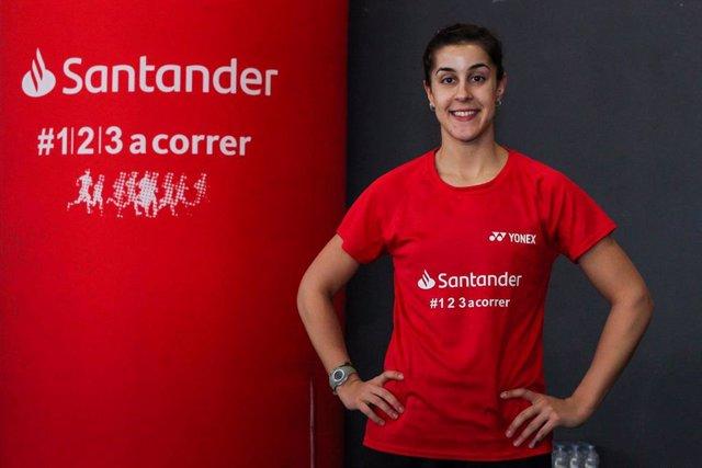 Carolina Marín, embajadora #123aCorrer de Banco Santander.
