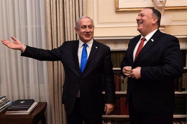 Benjamin Netanyahu y Mike Pompeo