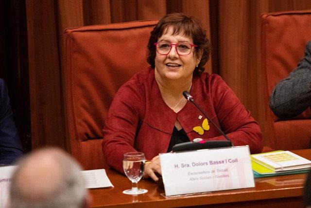 L'exconsellera de Treball, Afers Socials i Família de la Generalitat, Dolors Bassa, declara davant la Comissió de Recerca de l'aplicació del 155 a Catalunya, al Parlament de Catalunya /Barcelona, 28 de gener del 2020.