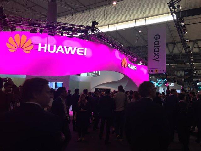 L'estand de Huawei l'MWC de l'any 2017