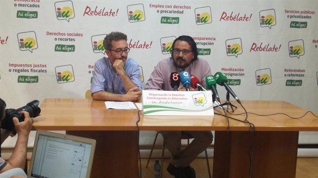 Fernando Macías y Daniel Pérez, de IU en Cádiz