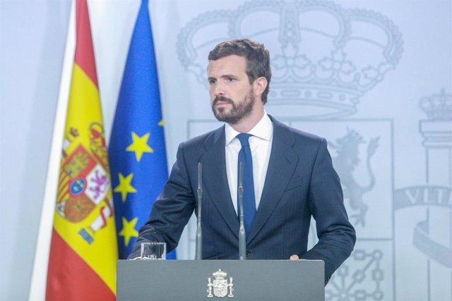 El president del PP, Pablo Casado (arxiu).