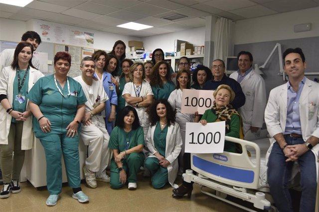 Profesionales de la Unidad de Ictus del Hospital Universitario Reina Sofía de Córdoba