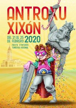 CARTEL DEL ANTROXU DE GIJÓN/XIXÓN 2020