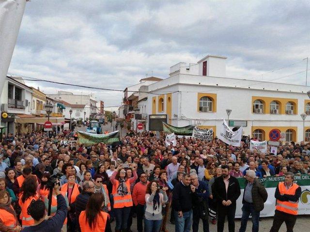 """Córdoba.- Unos 3.000 agricultores se concentran en Adamuz en nombre de """"la Españ"""