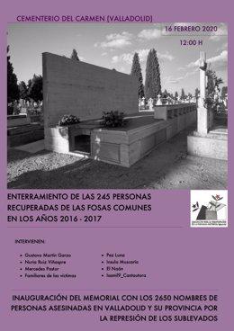 Cartel del acto de la Asociación para la Recuperación de la Memoria Histórica.
