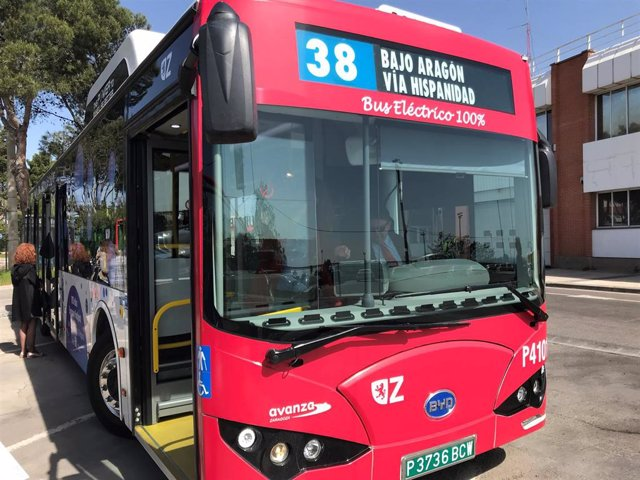 Autobús eléctrico de la línea 38