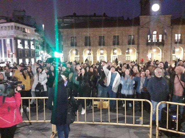 Concentración feministra en Avilés contra la presentación del libro de Cristina Seguí 'Manual para defenderte de una feminazi'