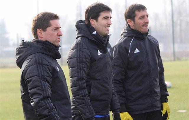 Andoni Iraola, entrenador del CD Mirandés.