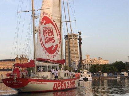 El Open Arms llega a Barcelona para ser reparado o sustituido