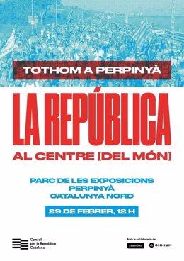 Cartel del acto en Perpinyà