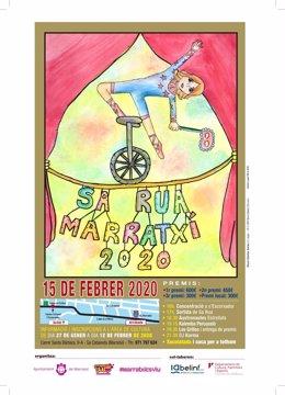 La alumna del colegio Nova Cabana Xisca Gomila gana el concurso del cartel de la Rúa de Marratxí