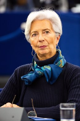 11 February 2020, France, Strasbourg: President of the European Central Bank (ECB) Christine Lagarde attends a plenary session of the European Parliament.