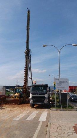 Obras de construcción colector de Palma