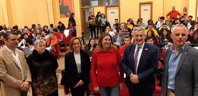 Inauguración de la Jornada por el Día Internacional de la Mujer y la Niña en la Ciencia, en el Aula Magna de la Escuela Politécnica de Gijón