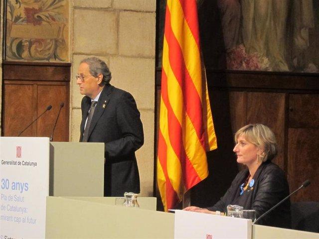 El presidente Quim Torra y la consellera Alba Vergés