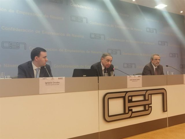 Ignacio Orradre, José Antonio Sarría y Antonio Monzó