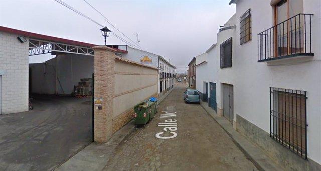 Imagen de la calle Molino de Almagro en Google Street View