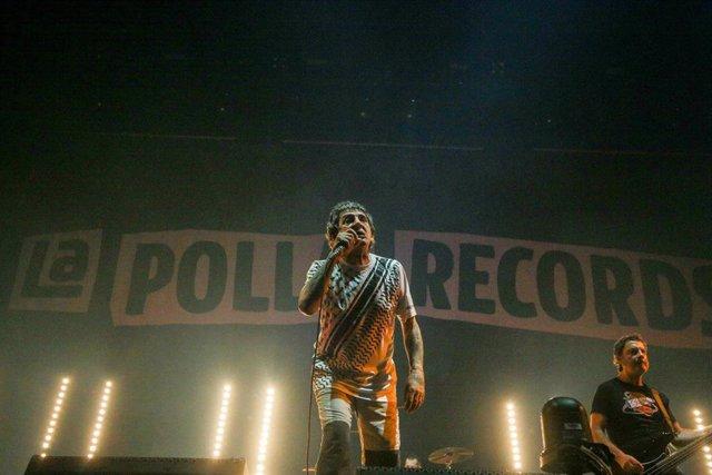 El cantante de 'La Polla Records', Evaristo Páramos, durante el concierto en el Wizink Center de Madrid (España), a 11 de octubre de 2019.