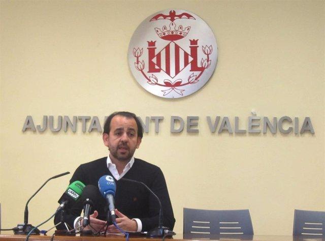 El exconcejal del PP en el Ayuntamiento de València Alberto Mendoza en una imagen de archivo
