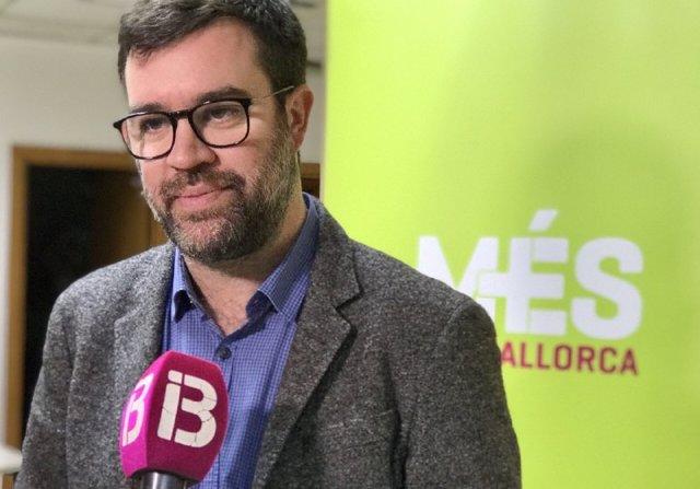El coordinador de MÉS per Mallorca, Antoni Noguera, en declaraciones a los medios
