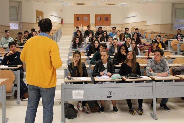 Un aula de la Universidad de Jaén