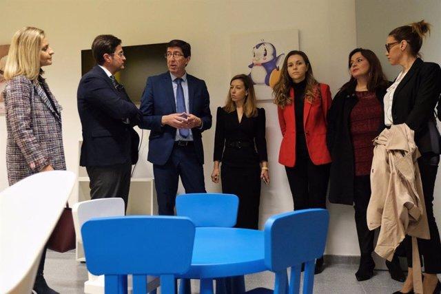 El vicepresidente de la Junta visita los juzgados de El Ejido (Almería)