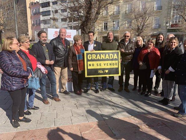 Imagen del inicio de la campaña del PSOE
