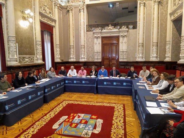 Imagen de la comisión de seguimiento del III Plan Provincial sobre Drogas de la Diputación de Palencia.