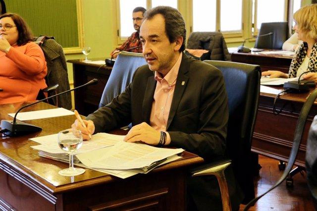 El diputado de Cs en el Parlament, Juan Manuel Gómez, en el Parlament