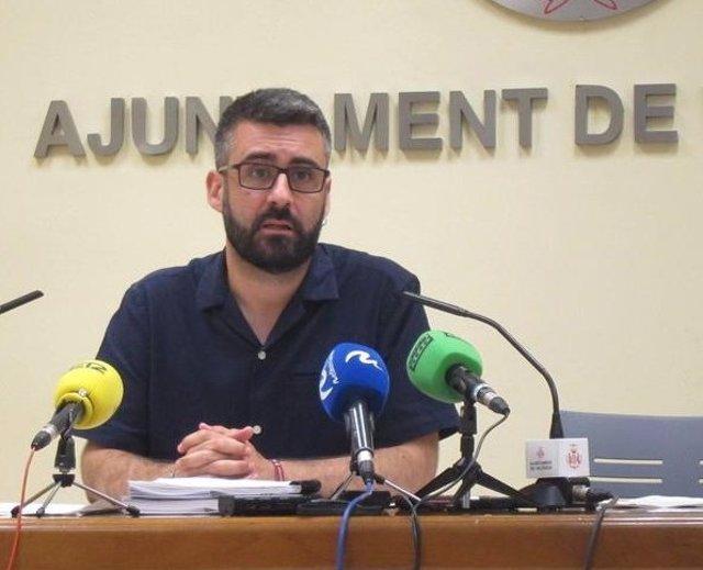 El concejal de Compromís en el Ayuntamiento de València Pere Fuset