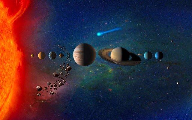 Concepto artístico del Sistema Solar