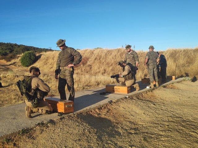 Militares del Ejército de Tierra durante un ejercicio