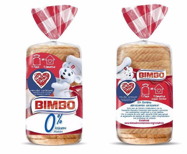 Paquetes de pan Bimbo 0%