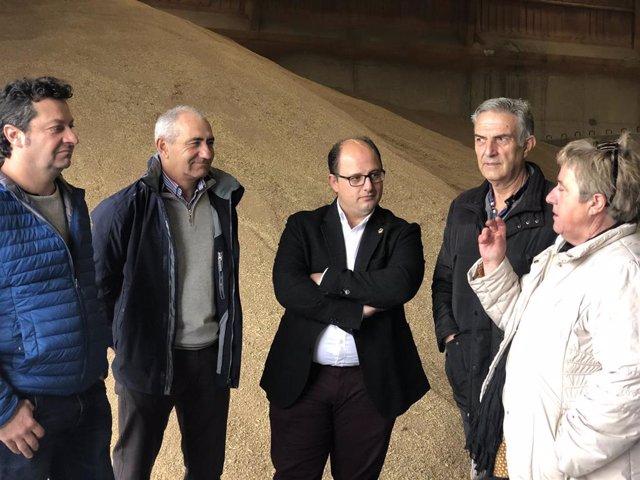 Visita a la Cooperativa Cereales Teruel, en Aguilar del Alfambra