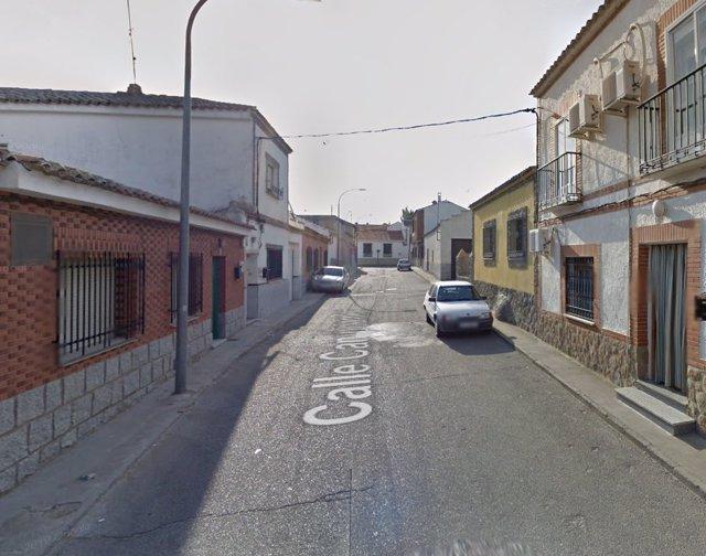 Calle Camporamor de Ajofrín