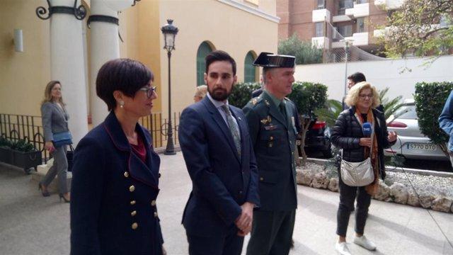 El secretario de Estado de Seguridad, Rafael Pérez, tras una reunión con mandos de las fuerzas y cuerpos de seguridad del Estado y representantes de la Secretaría de Estado de Migraciones, de la Marina Mercante y la Subdelegación del Gobierno en Málaga.