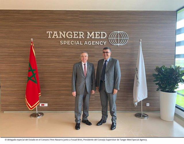 El delegat especial de l'Estat al CZFB, Pere Navarro, visita Tanger Med.