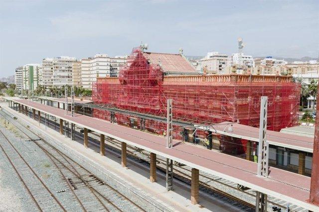 Antigua Estación de Ferrocarril en Almería en obras