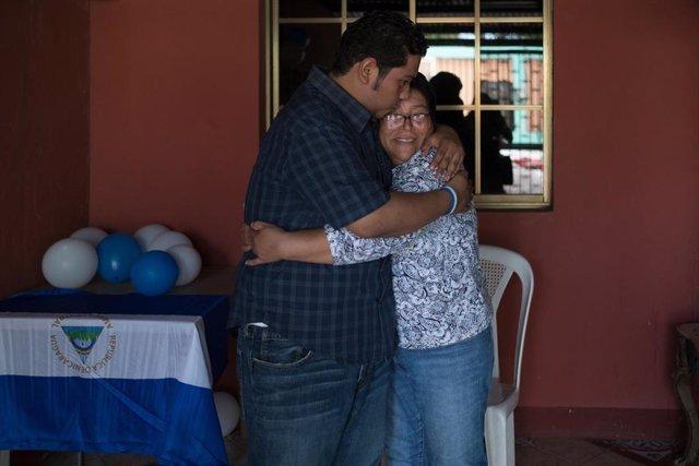 Preso político liberado en Nicaragua