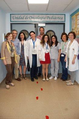 Imagen del equipo de Oncología Pediátrica del Hospital Virgen del Rocío que desarrolla esta investigación.
