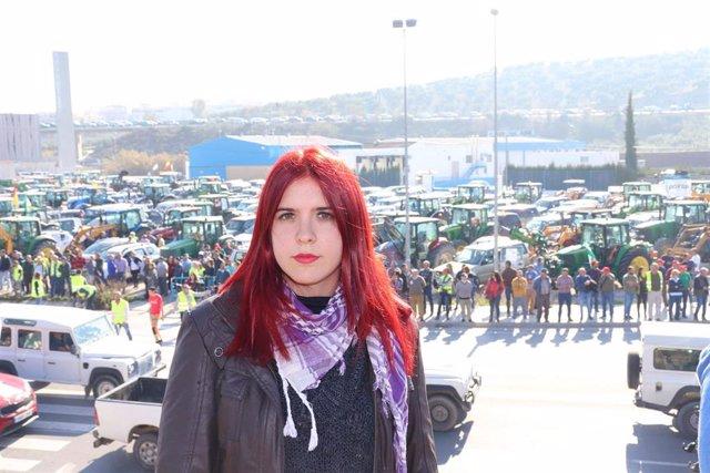 Luz Marina Dorado ha respaldado la tractorada de Lucena (Córdoba)