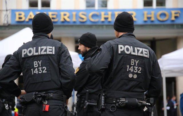 Policía desplegada en la conferencia de seguridad de Múnich