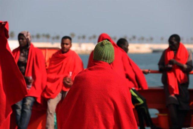 Inmigrantes, pateras, Málaga