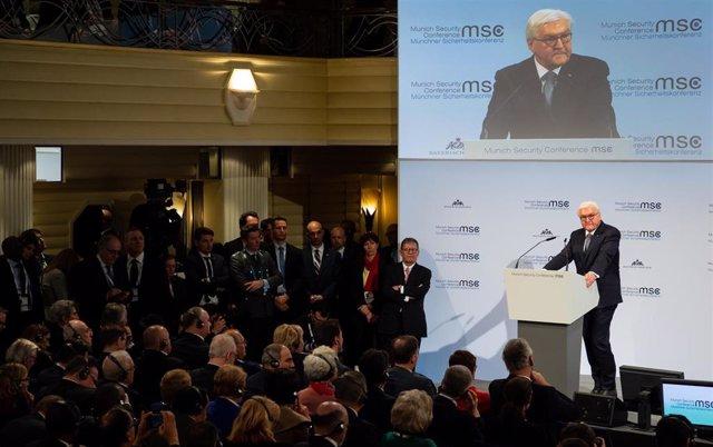 El presidente de Alemania, Frank-Walter Steinmeier, en la Conferencia de Seguridad de Múnich 2020