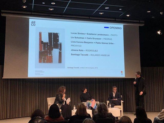 Presentación de la participación en Arco Madrid con R.Santa Cruz, M.López y J.Aloy